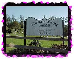 At the entrance to the current Elizabeth Cemetery.
